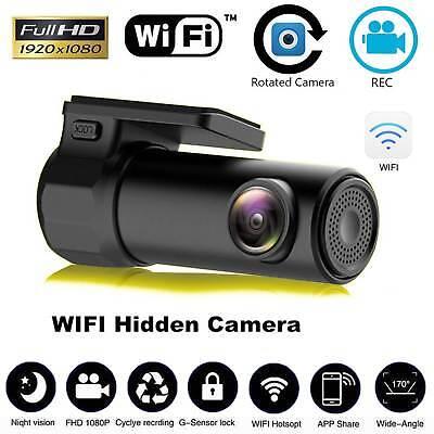 170° 1080P Wifi Car Hidden Camera DVR Video Dash Cam Recorder Night Vision AU 11