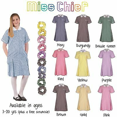 b535d084b42 ... Ages 3 - 20 Girls Summer Check Gingham School Dress Pleated Sky Blue  Purple Red 2