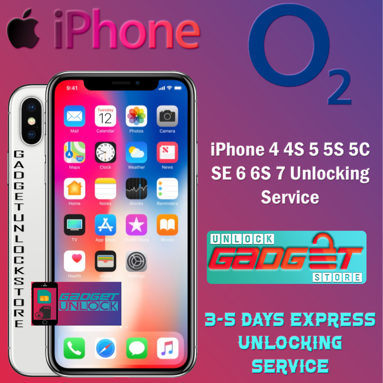 UNLOCK CODE FOR IPHONE 5 5S 5C SE 6 6S 7 8 X XR XS 11 Pro Max O2 TESCO UK UNLOCK 4
