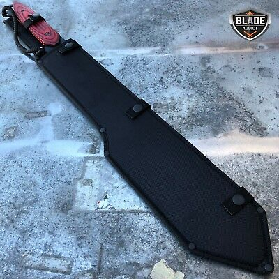"26"" Heavy Duty Tactical Jungle Machete Fixed Blade Survival Sword Hunting Knife 5"