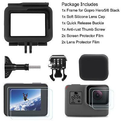 Frame For GoPro HERO 5/6 Black Housing Border Protective Shell Case Lens Cap 12