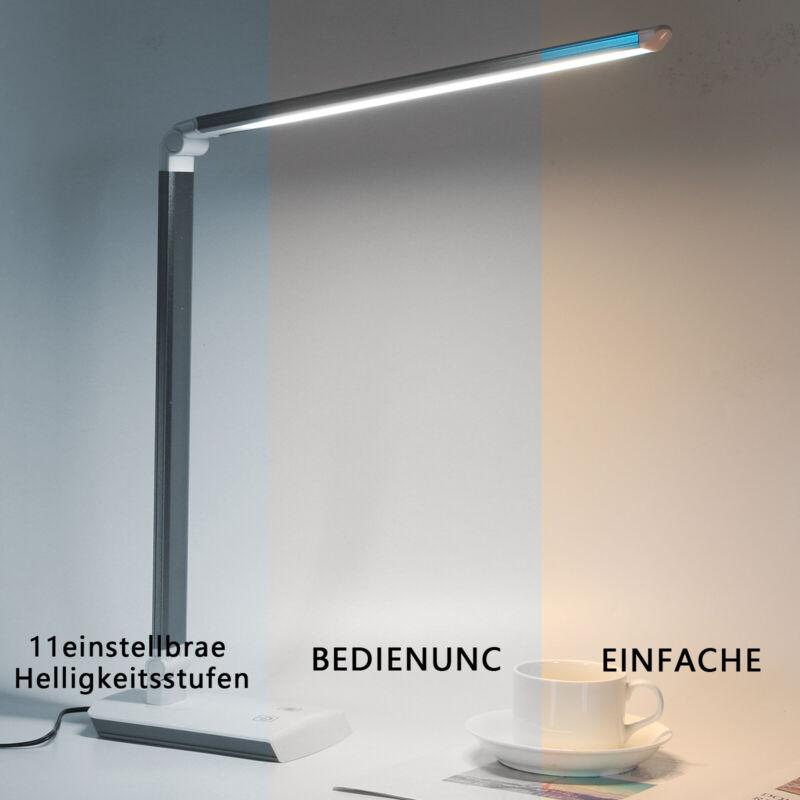 TOUCH LED Tischlampe Schreibtisch-Leuchte Büro dimmbar Lese-Lampe Nachttisch XY