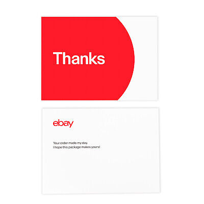 "NEW EDITION 3-Color, eBay-Branded 5.5"" x 4"" Thank You Postcards Multi-Pack 4"