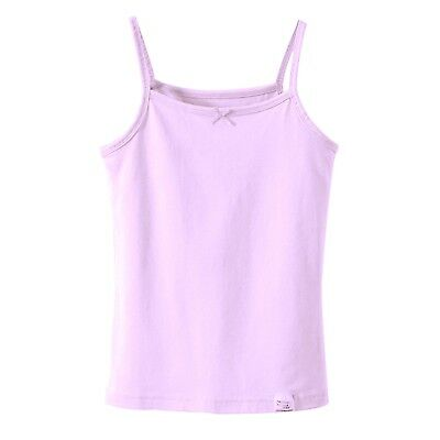 Kids Girls Sleeveless Short Crops, Camisoles 3 Vests Pack 100% Cotton 3 to 10YRS 8