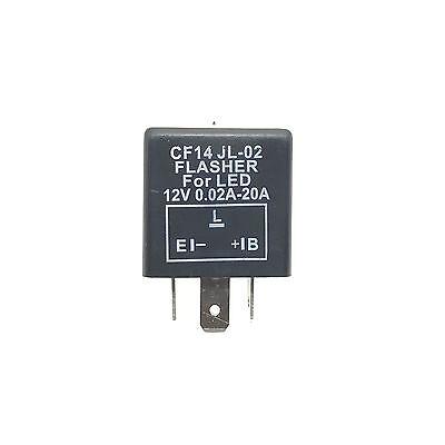 LED Blinker-Relais Lastunabhängig 12V 0,02-20A 3-Polig CF14 Flasher Blinkrelais 2