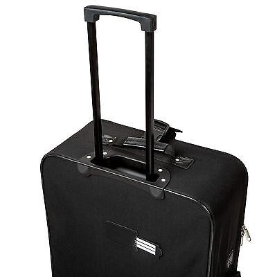 Conjunto de 4 maletas de viaje juego de maleta bolsa trolley con ruedas negro 4