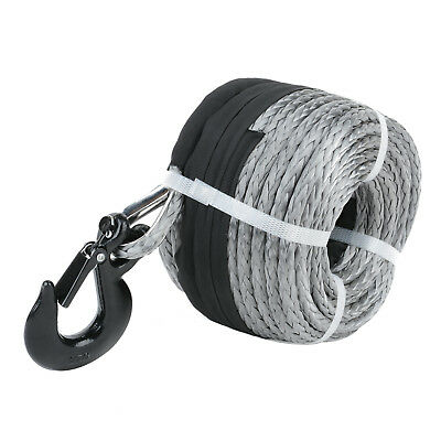 Winch Rope 10MM x 30M Dyneema SK75 Hook Synthetic Car Tow Recovery Cable 2