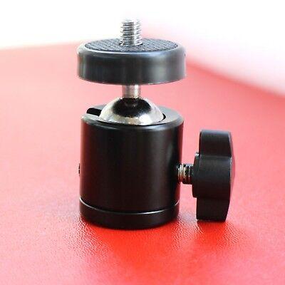 Mini Ball Head 360 Swivel for DSLR Camera Stand Tripod Adapter 1/4 Screw Mount