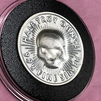 Skull Stamp Sunshine Minting 1/2 Troy Oz .999 Fine Silver Round Coin Medal 999 10