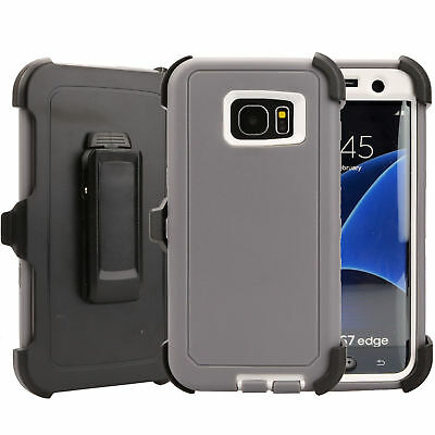 Case Cover Defender For Samsung Galaxy S7 Edge (Belt Clip Fits Otterbox) USA NEW 3