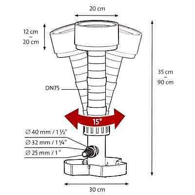 6000-20000 L//H Osaga Teich-Stand-Skimmer OSK-02 für Wasseroberflächen bis 40m²