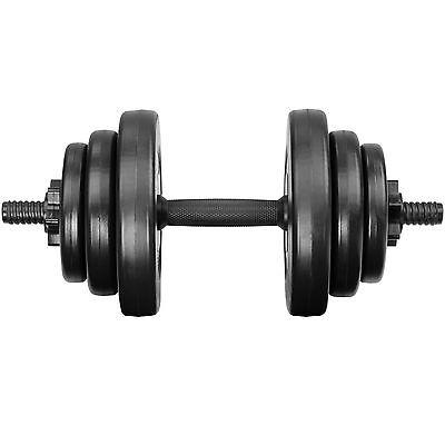 2x Set d'haltères courts revêtement plastique poids barres musculation 20 kg 2