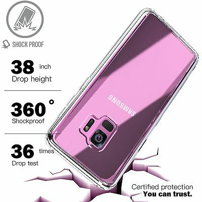 For Samsung Galaxy S7 S8 S9 Case Shockproof Silicone Protective Clear Gel Cover 3