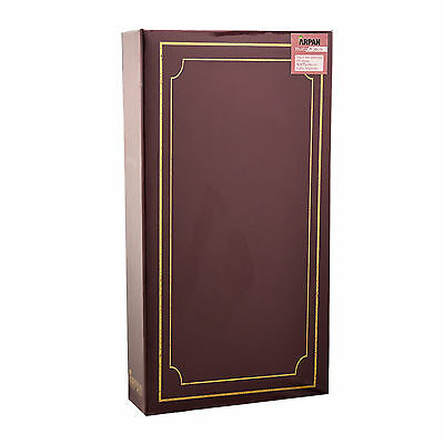 ARPAN Plain 6' X 4' Photo Album with 300 Pockets Black, Blue or Burgundy - 2