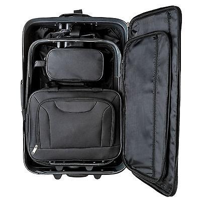 Conjunto de 4 Maletas Viaje Juego Set de maleta bolsa Trolley ruedas Negro Nuevo 9