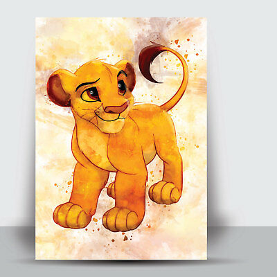 The Lion King Collection Watercolour Art Print Nursery Wall