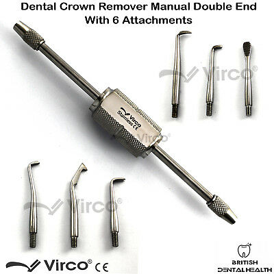 Morrel Crown Remover With 6 Attachments Dental Stainless Steel Instrument Ce 2