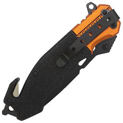 """8.5"""" TAC FORCE EMT RESCUE SPRING ASSISTED TACTICAL POCKET KNIFE Blade Open 7"""
