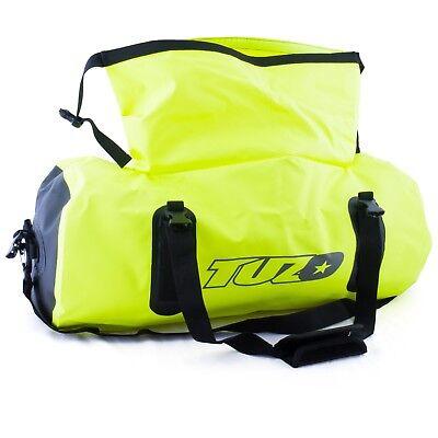 50L Motorcycle Luggage Duffel Holdall Waterproof Roll Shut Bag Flo Yellow 4