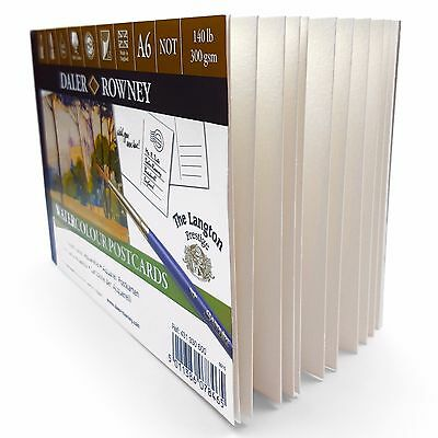 Daler Rowney Watercolour Painting Postcards A6 - 12 x 300gsm Sheets - Made in UK 2