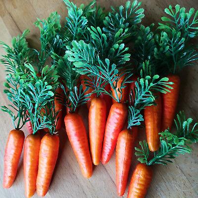 18 x Möhren Karotten 6.5cm Schneemann Nase Dekoration Ostern Gemüse Kunstgemüse 12