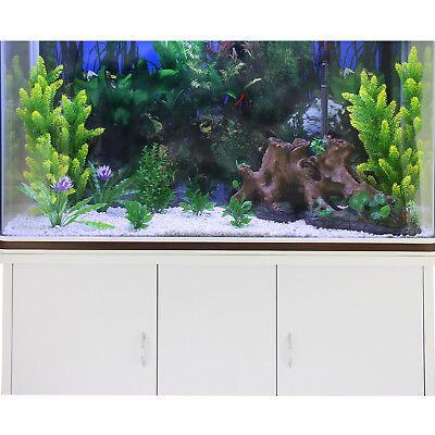 Aquarium à bords Blanc & Noisette, Kit de Démarrage, Meuble de support Blanc