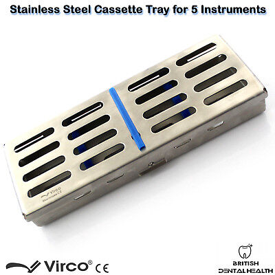 Stainless Tray Cassette for 5 Pcs Instruments Surgical Dental Implant Lab CE 3