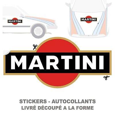 2x MARTINI RALLYE COURSE Autocollant decal auto moto sticker - Plusieurs Tailles 2