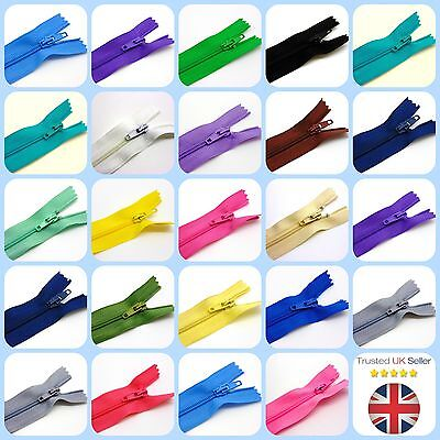"""6"""" 8"""" 10"""" Nylon Zips for Sewing & Crafts Zippers Closed End Auto Lock Colours 4"""
