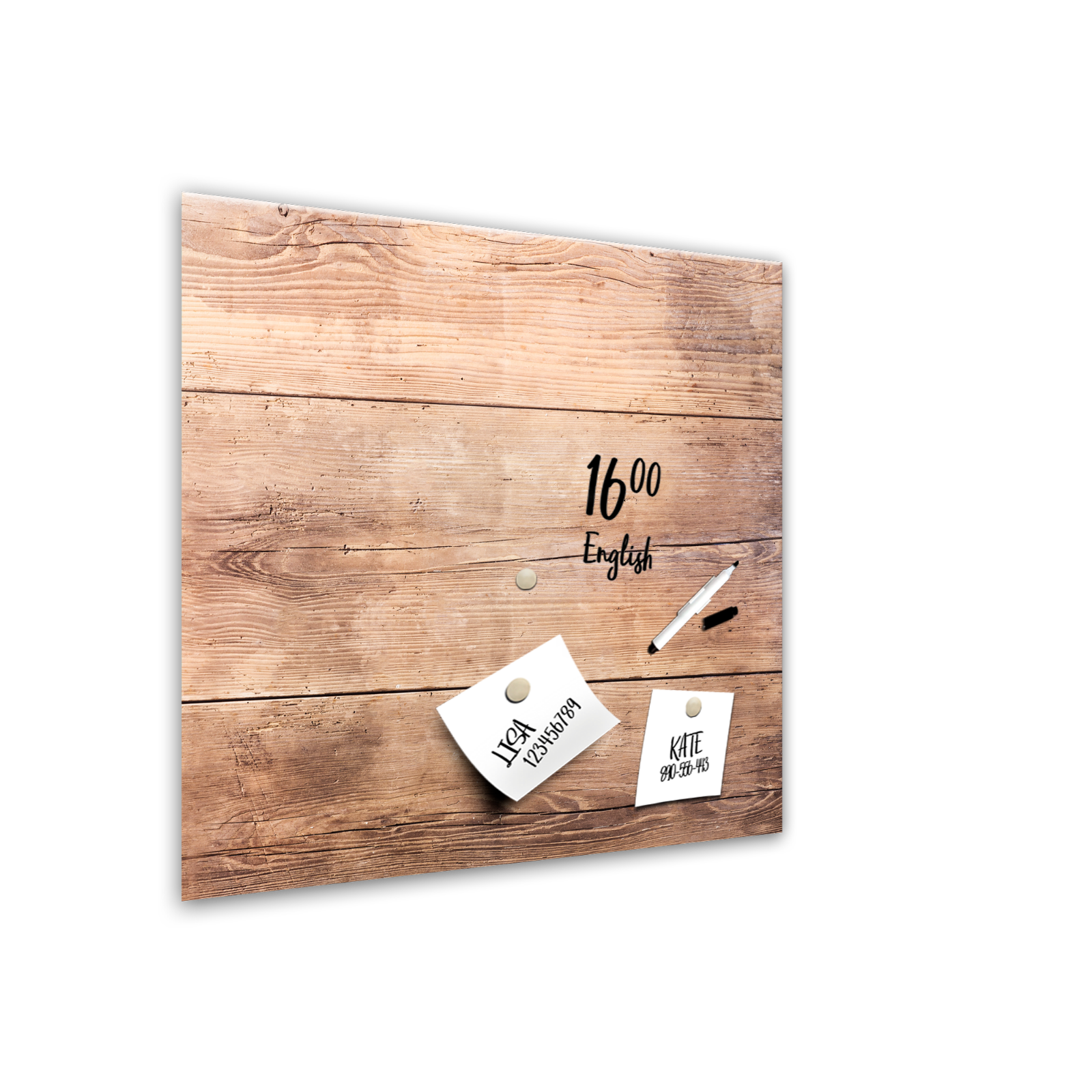MEMOBOARD WOOD S Styler Glas Magnettafel Magnetwand Küche Holz