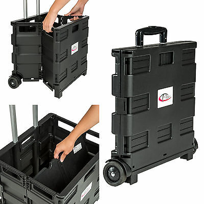 chariot de courses pliable 35kg caddie trolley caddy de. Black Bedroom Furniture Sets. Home Design Ideas