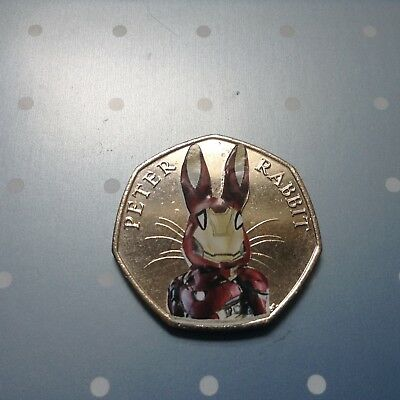 Beatrix Potter Peter Rabbit Marvel Super hero decal 50p set Spider Bat Deadpool 5