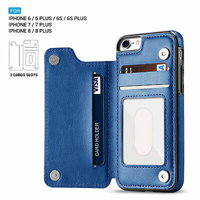 Leather Wallet Case Card Shockproof Holder Cover for iPhone XS Max XR 7 8 6S 5E 6