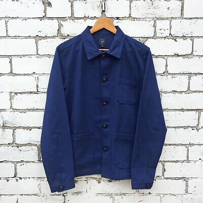 60s Style French Navy Blue Cotton Twill Canvas Chore Worker Jacket - All Sizes 2
