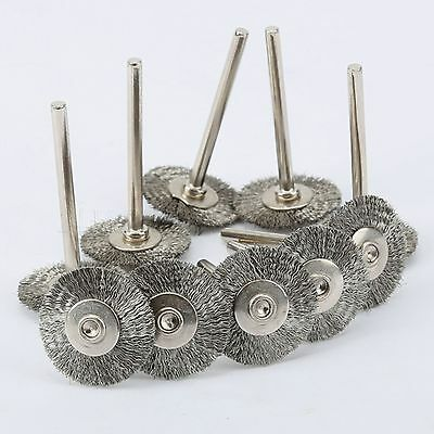 22mm Rotary Tool Steel Wire Wheel Brush Compatible With Power Die Grinder x 10 7