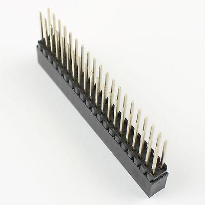 50Pcs 2.54mm Pitch 2x20 Pin 40 Pin Female Double Dual Row SMT Pin Header Strip
