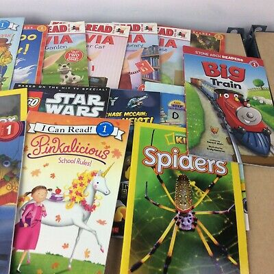 Lot of 10 Level 1~RL~Ready to-I Can Read-Step into Reading-Learn Read Books MIX 5