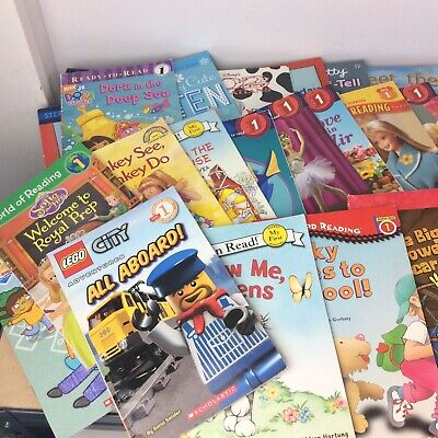 Lot of 10 Level 1~RL~Ready to-I Can Read-Step into Reading-Learn Read Books MIX 8