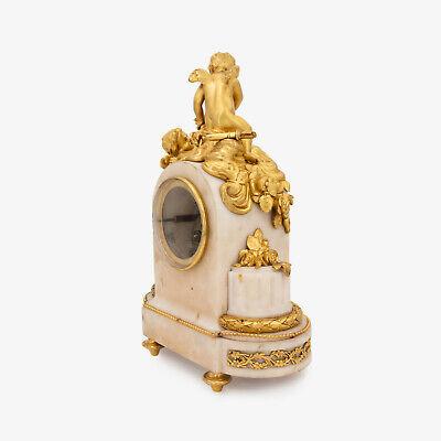 French Napoleon III ormolu clock, pendulette, putti Cupid signed Vincenti & Cie 6