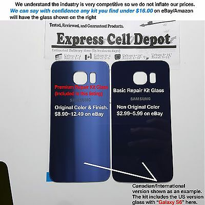0ada715f9bf ... Samsung Galaxy S6 G920 -OEM Blue- Front & Back Glass Lens Screen  Replacement Kit