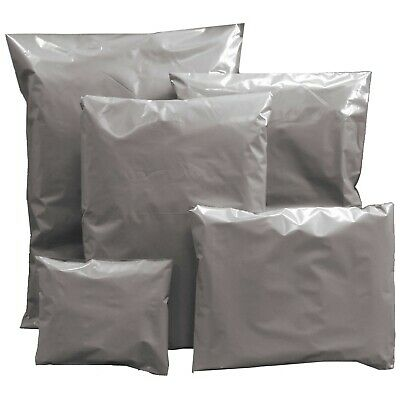 Grey Mailing Bags Strong Post Mail Postage Poly Bag Postal Self Seal Plastic 3