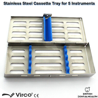 Stainless Tray Cassette for 5 Pcs Instruments Surgical Dental Implant Lab CE 2