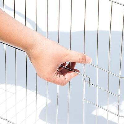 Enclos avec filet de protection extérieur cage à lapin parc petits animaux vert 3