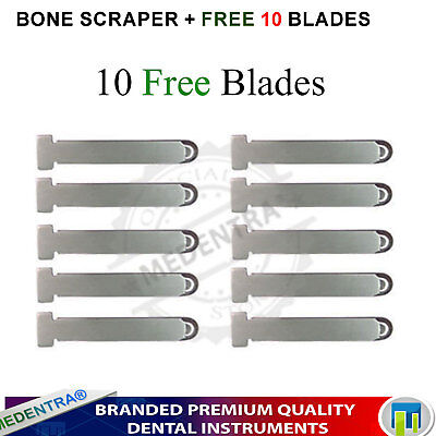 Dental Implant Harvesting Instruments Bone Scrapers With 10 Replaceable Blades