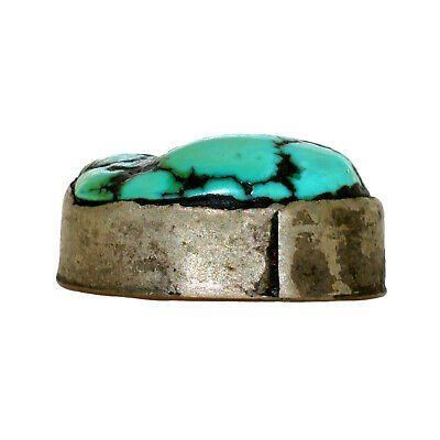 (2565) Antique Tibetan Turquoise Set in Silver and Copper 6