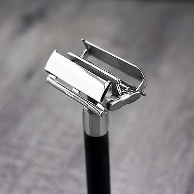 Butterfly Safety Razor& 5 Wilkinson Double Edge Blades Classic Shaving Vintage 3