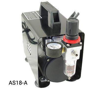 Airbrush Kompressor Airbrushpistole Komplett-Set Double-Action Pistolen Halter 4