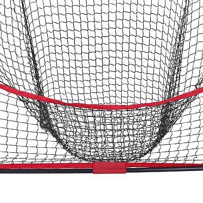 7x7Ft Bow Frame Baseball Softball Teeball Practice Batting Training Net W/Bag 5