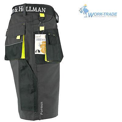 Arbeitshose Kurze Hose Kurz Bermuda Shorts Grau Schwarz Gelb Gr. S - XXXL