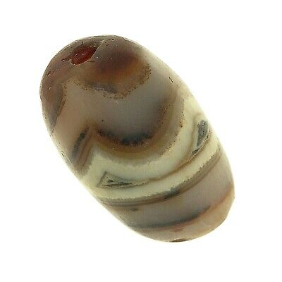 (0676) Striped Agate Bead from China-Tibet.   眼玛瑙珠 9